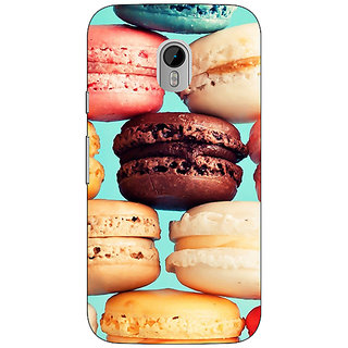 1 Crazy Designer Macaroons Back Cover Case For Moto G3 C670687