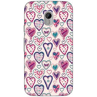 1 Crazy Designer Hearts Back Cover Case For Moto G3 C670710