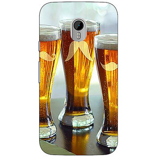 1 Crazy Designer Beer Glasses Back Cover Case For Moto G3 C671202