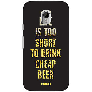 1 Crazy Designer Beer Quote Back Cover Case For Moto G3 C671217