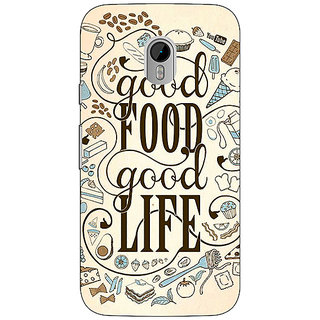 1 Crazy Designer Good Food Quote Back Cover Case For Moto G3 C671226