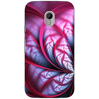 1 Crazy Designer Abstract Flower Pattern Back Cover Case For Moto G3 C671501