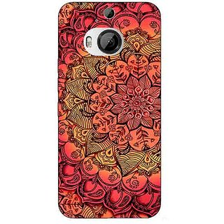 1 Crazy Designer Red DayDream Pattern Back Cover Case For HTC M9 Plus C680214