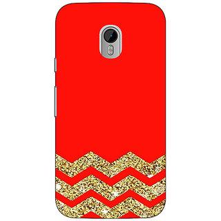 1 Crazy Designer Orange Faux Glitter Back Cover Case For Moto G3 C670769