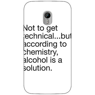 1 Crazy Designer Alcohol Quote Back Cover Case For Moto G3 C671310