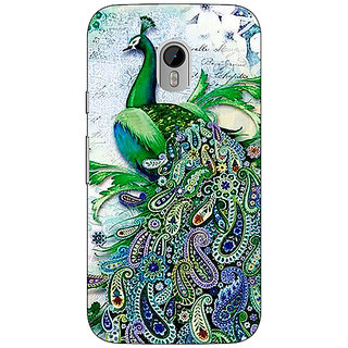 1 Crazy Designer Paisley Beautiful Peacock Back Cover Case For Moto G3 C671591