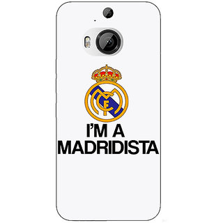 1 Crazy Designer Real Madrid Back Cover Case For HTC M9 Plus C680599