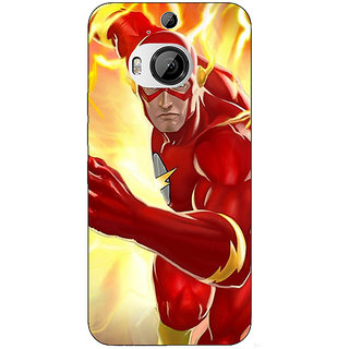 1 Crazy Designer Superheroes Flash Back Cover Case For HTC M9 Plus C680855