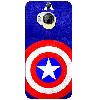 1 Crazy Designer Superheroes Captain America Back Cover Case For HTC M9 Plus C680331