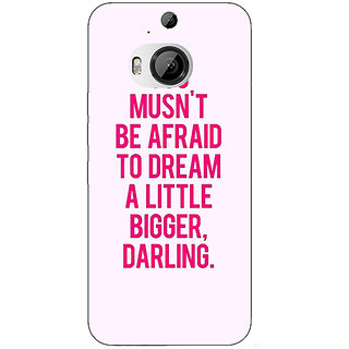 1 Crazy Designer Quotes Back Cover Case For HTC M9 Plus C681197