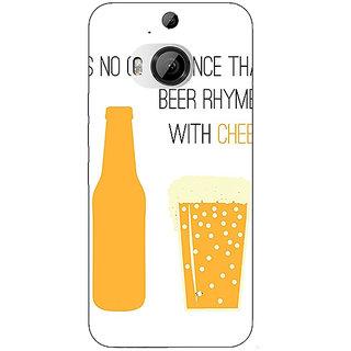 1 Crazy Designer Beer Quote Back Cover Case For HTC M9 Plus C681204