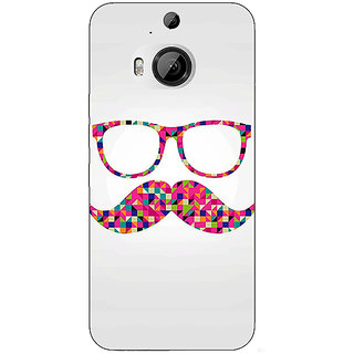 1 Crazy Designer Mustache Back Cover Case For HTC M9 Plus C680751