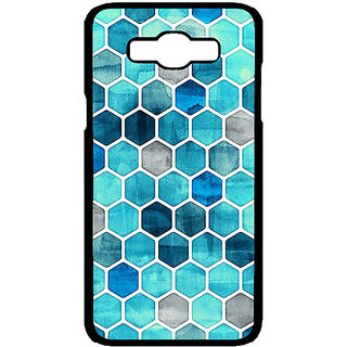 1 Crazy Designer Blue Hexagons Pattern Back Cover Case For Samsung Galaxy J7 C700270