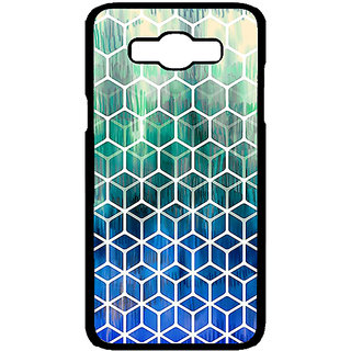 1 Crazy Designer Blue Hexagon Pattern Back Cover Case For Samsung Galaxy J7 C700285