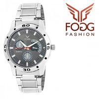 Fogg Grey Analog Mens Watch