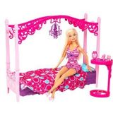 Barbie Glam Bedroom Furniture And Doll Set