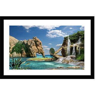 Go Hooked Enchanting Beach Framed Painting