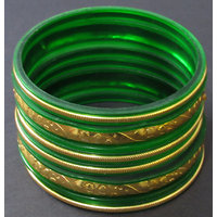 Green and golden Bangle set