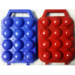 Portable 12 Egg Carrier Holder Picnic Plastic Container Camping Storage Fridge