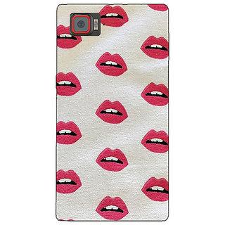 1 Crazy Designer Kiss Back Cover Case For Lenovo K920 C720099