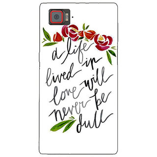 1 Crazy Designer Quotes Back Cover Case For Lenovo K920 C721195