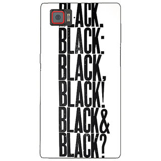 1 Crazy Designer Black Quotes Back Cover Case For Lenovo K920 C721199