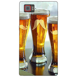 1 Crazy Designer Beer Glasses Back Cover Case For Lenovo K920 C721202