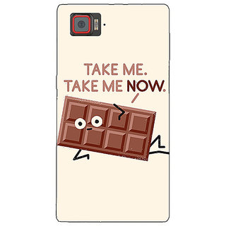 1 Crazy Designer Chocolate Quote Back Cover Case For Lenovo K920 C721451