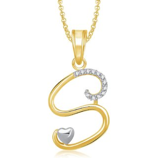 Pendant Locket Alphabet Heart For Men And Women With Chain