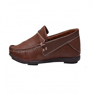 KDS69 THE DRIVE DARK BROWN PLAIN LOAFER 902