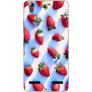 1 Crazy Designer StrawberryPattern Back Cover Case For Lenovo A6000 C730202