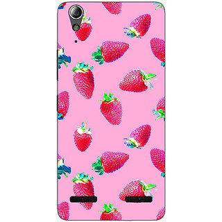 1 Crazy Designer Strawberry Pattern Back Cover Case For Lenovo A6000 C730203