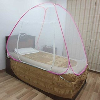 Healthgenie Pink Single Bed Mosquito Net Foldable