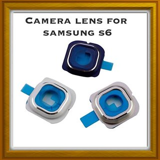 New Camera Lens Glass Cover - For Samsung Galaxy S6 - Blue.
