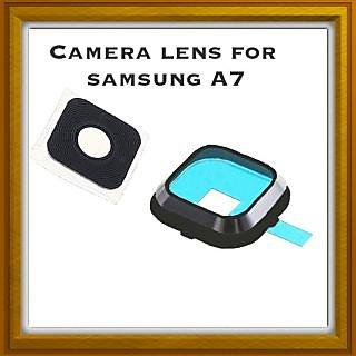 New Camera Lens Glass Cover - For Samsung Galaxy A7 - Black