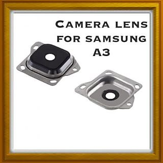 New Camera Lens Glass Cover - For Samsung Galaxy A3 - Silver