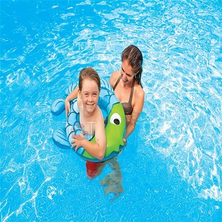 Intex Inflatable Swimming Ring Fish Shape For 3 To 6 Years Kids