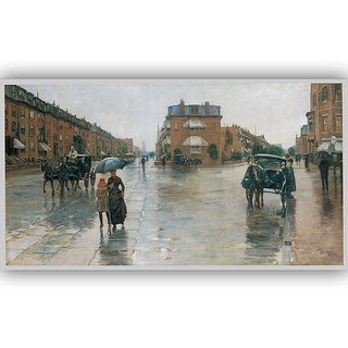 Vitalwalls Portrait Painting Canvas Art Print. Western-163-45cm