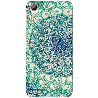 1 Crazy Designer Emerald Doodle Pattern Back Cover Case For HTC Desire 626S C950216