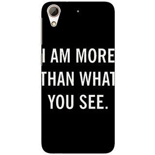 1 Crazy Designer Quote Back Cover Case For HTC Desire 626S C951230