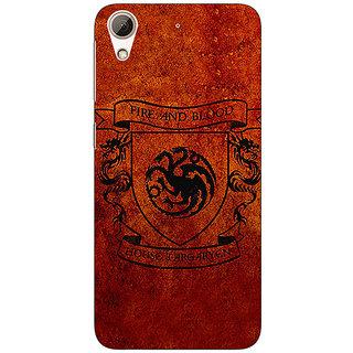 1 Crazy Designer Game Of Thrones GOT House Targaryen  Back Cover Case For HTC Desire 728 C960151