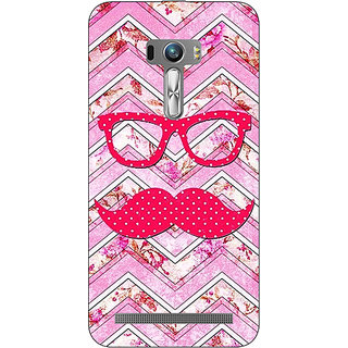 1 Crazy Designer Mustache Back Cover Case For Asus Zenfone Selfie C990753