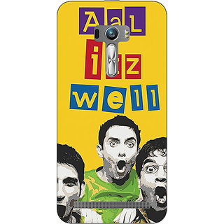 1 Crazy Designer Bollywood Superstar Three Idiots All is Well Back Cover Case For Asus Zenfone Selfie C991111