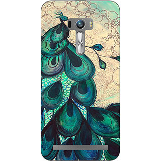 1 Crazy Designer Paisley Beautiful Peacock Back Cover Case For Asus Zenfone Selfie C991585