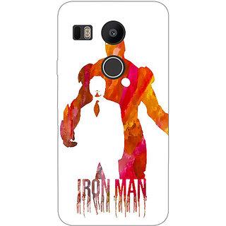 1 Crazy Designer Superheroes Iron Man Back Cover Case For LG Google Nexus 5X C1010330
