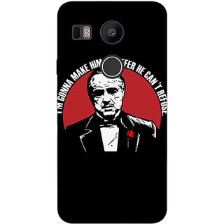 1 Crazy Designer The Godfather Back Cover Case For LG Google Nexus 5X C1010349