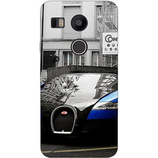 1 Crazy Designer Super Car Bugatti Back Cover Case For LG Google Nexus 5X C1010627