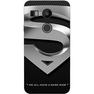 1 Crazy Designer Superheroes Superman Logo  Back Cover Case For LG Google Nexus 5X C1010878