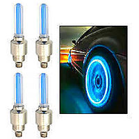 Tyre LED Light with Motion Sensor - Blue Color For Car - Set of 4 Pcs