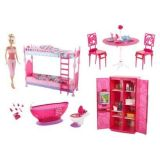 Barbie Doll And Furniture Gift Set